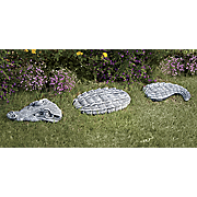 3 piece crocodile stepping stone