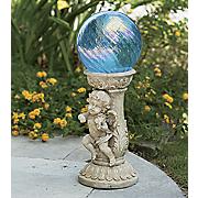 solar cherub pedestal