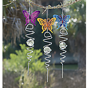 3 piece butterfly windspinner set