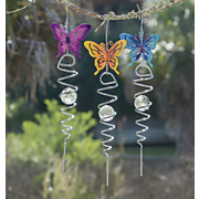 3 piece butterfly windspinner set