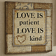 Love Is Patient Wall Art