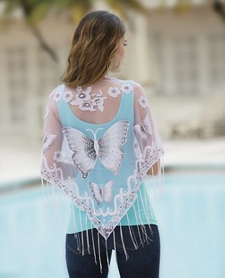 Sheer Butterfly Shawl