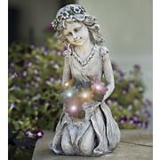 secret garden solar fairy statue
