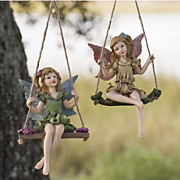 set of 2 sitting pretty fairies