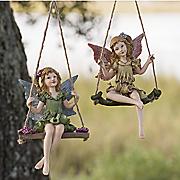 set of 2 sitting pretty fairies