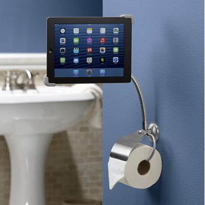 Bathroom Tablet Stand with Paper Holder