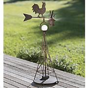 doodle dandy solar rooster wind spinner