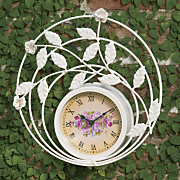 outdoor rose rugosa clock