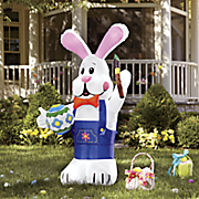 easter bunny with paint brush inflatable
