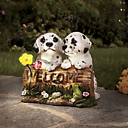 solar welcome dalmations sign