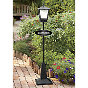 lantern on stand w oval sign