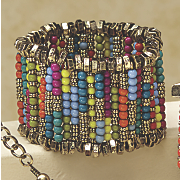 multicolored stretch bracelet