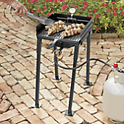 25in portable propane single burner outdoor cooker