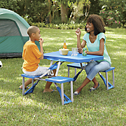 plastic metal table chair set