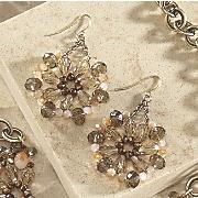 Bead Medallion Earrings