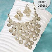 filigree necklace earring set
