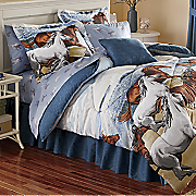 Coastal Run Complete Bed Set, Decorative Pillow and Window Treatments