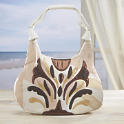 Metallic Leather Handbag