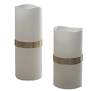 s 2 beaded jewels flameless candles