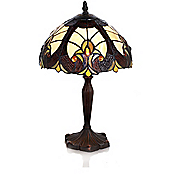 Stained Glass Amber Halston Lamp