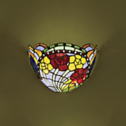 stained glass floral led wall lamp