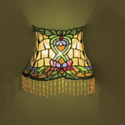 beaded stained glass led wall lamp