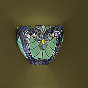 halston blue stained glass led wall lamp