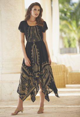 Rylie Gold Embellished Dress