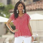 Malika Crochet and Mesh Top