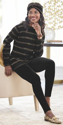 Annmarie Cardigan and Velvet Leggings