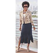 stella crop jacket and jasmine skirt