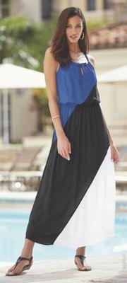 Talisa Colorblock Maxi Dress