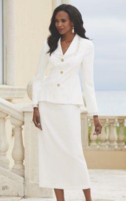 Rosamond Bead-Trim Suit