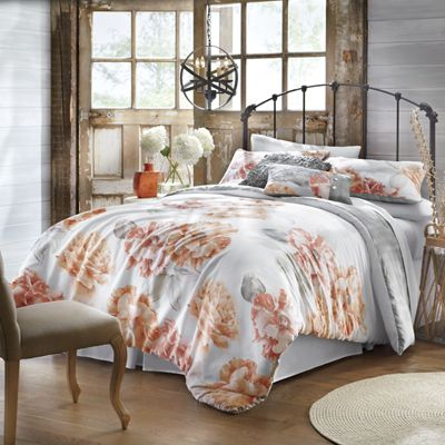 3-Piece Golden Peony Comforter Set and Decorative Pillows by Jessica Simpson