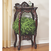Hand-Carved Plant Stand
