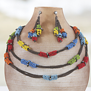 multistrand bead wrap necklace