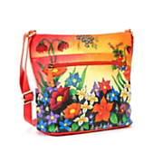floral tropics hand painted bag