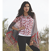 leopard stripe poncho top