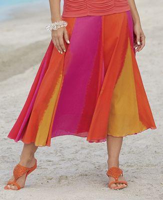 Sherbet Stripe Skirt