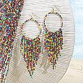 Seed-Bead Earrings