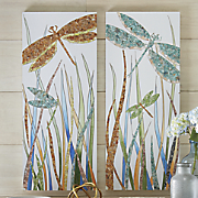 Set of 2 Dragonfly Wall Art