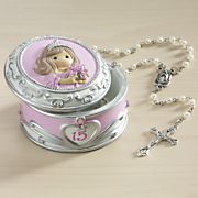 rosary in quinceanera box