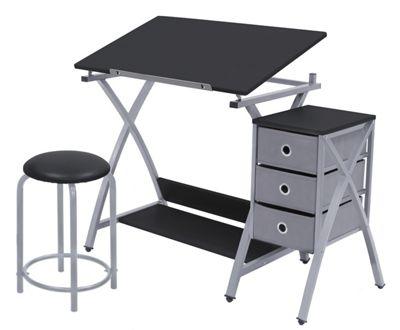 3-Piece Adjustable Art Desk, Drawer Set & Drawing Table