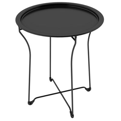 Round Metal Tray Table