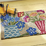 hand tufted still life mat