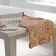 veda valance  runner and place mats