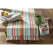 Sea Spray Stripe Runner and Napkins