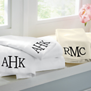 500-Thread Count Monogrammed Cotton Sheet Set