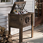 rustic small cooler
