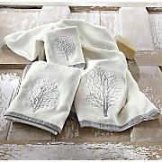 misty forest towel set